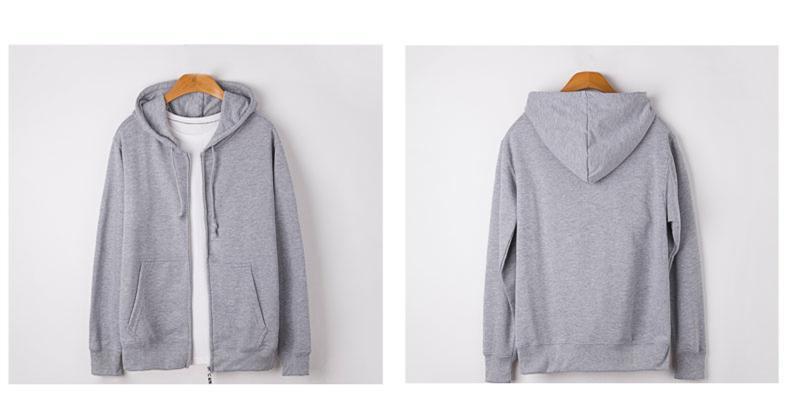 Casual hooded zipper fleece