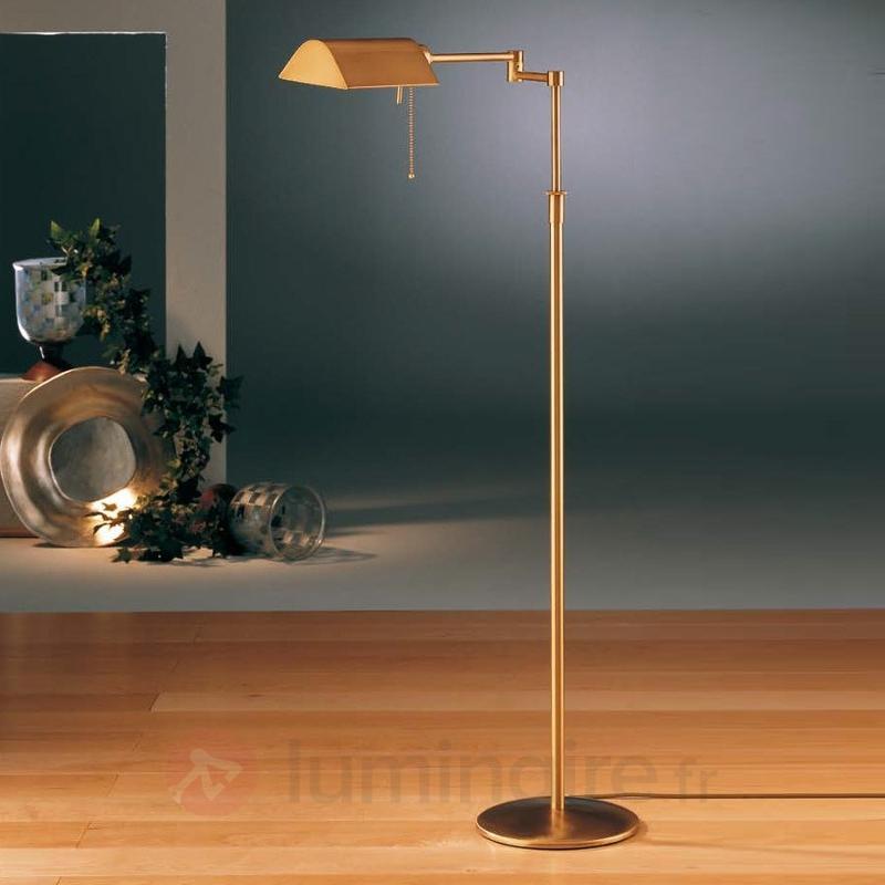 Lampadaire basse consommation DUNIA en laiton - Tous les lampadaires
