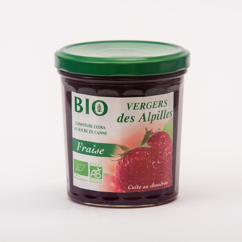 Vergers BIO - Fraise - Confitures Biologiques au sucre de canne