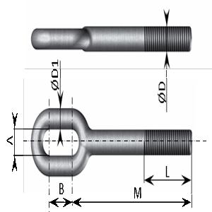 PITON A OEIL - Piton à œil ovale