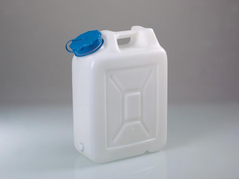 Wide-necked jerrycans - Canister, HDPE, transparent, with/without threaded connector