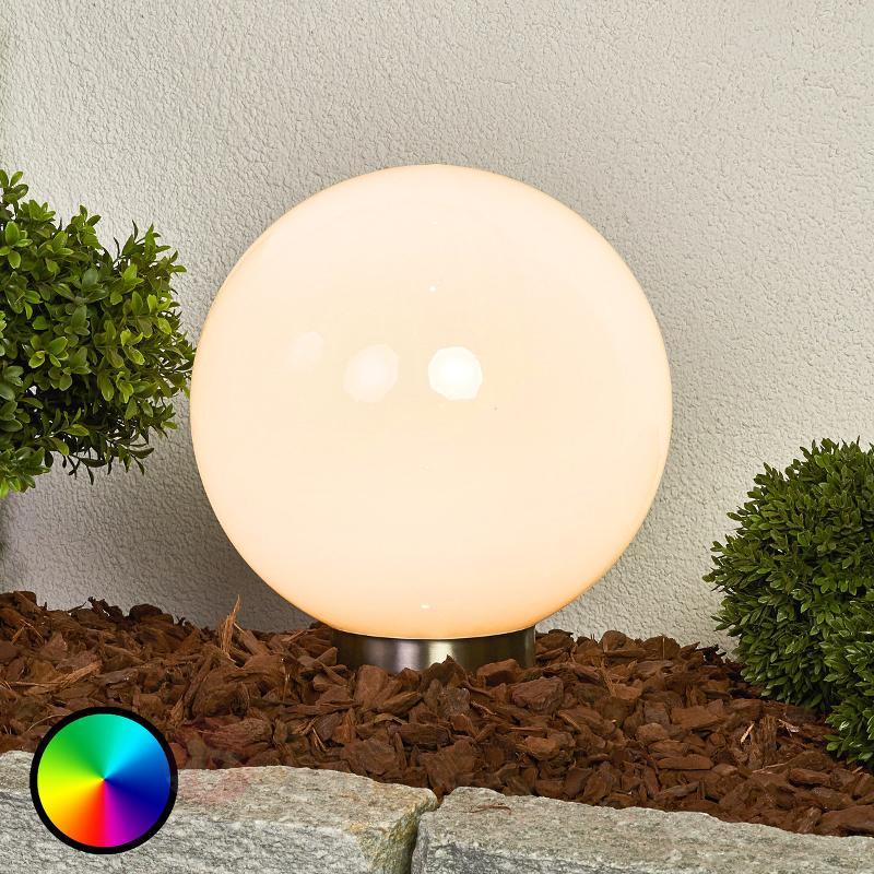 Friederika - lampe solaire RVB de forme sphérique - Lampes solaires décoratives