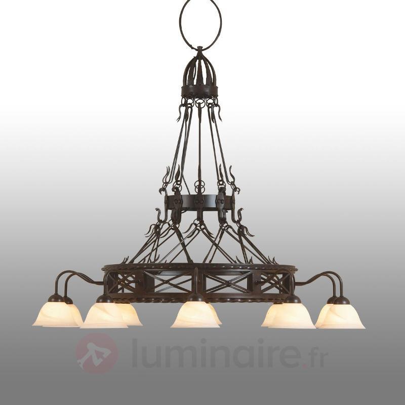 Lustre forgé à la main Pusta à 10 lampes - Lustres classiques,antiques