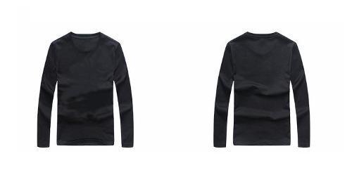 Chemise manches longues en coton imprimé col rond