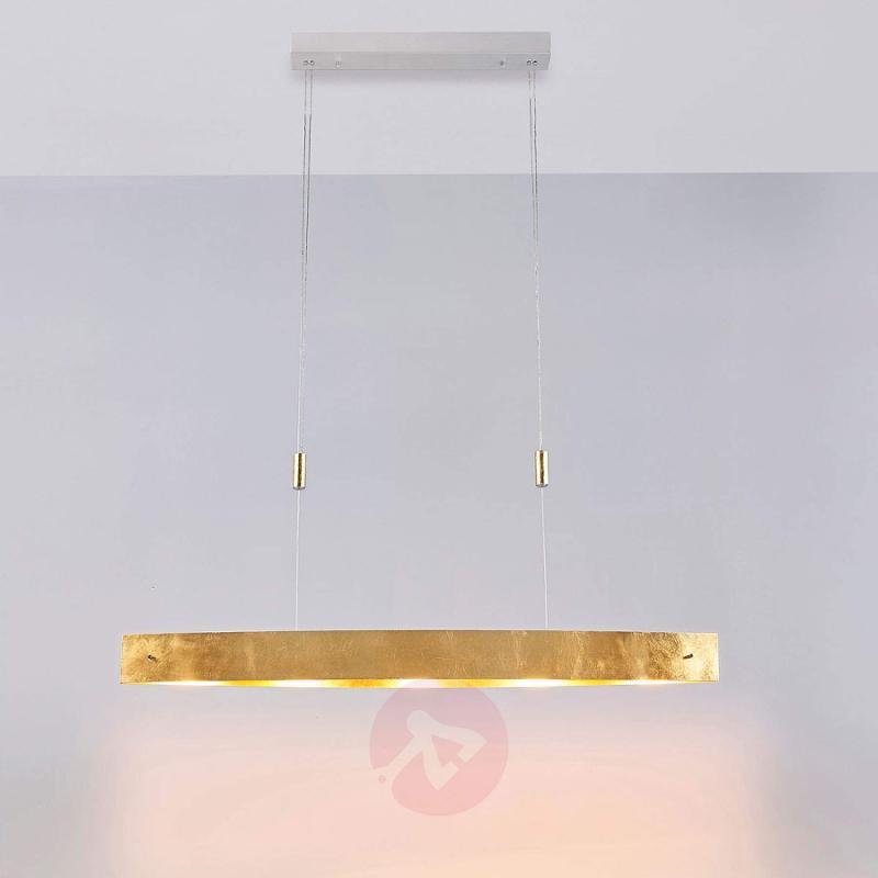 Attractive, golden LED pendant lamp Lio - indoor-lighting