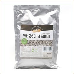 Chia Samen (Salvia hispanica) weiß - Nahrungsergänzung