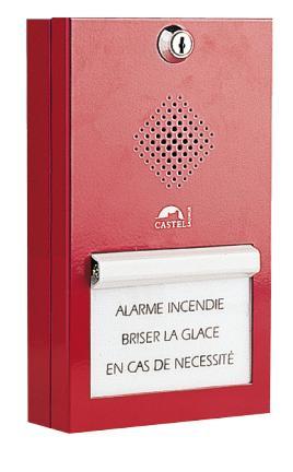 BGPH - Interphonie de sécurité (CASI) - Boitier d'alarme bris de glace phonique en saillie