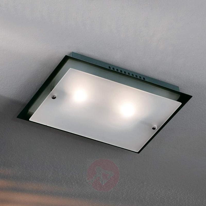 Yasemin ceiling light with satin glass, 33 cm - Ceiling Lights