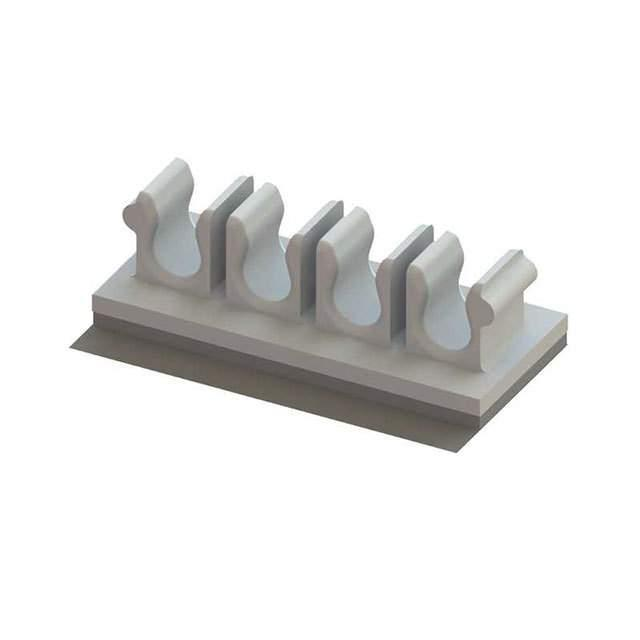 FIBER HOLDER ADH MNT NAT 8X3MM - Essentra Components OFHB3-4-19A-RT