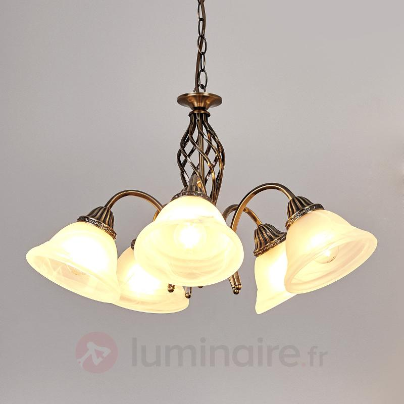 Suspension Mialina à cinq lampes - Suspensions classiques, antiques