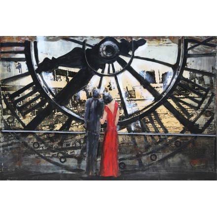 Tableau peinture support métal BIG BEN - Peintures... - Peintures support metal
