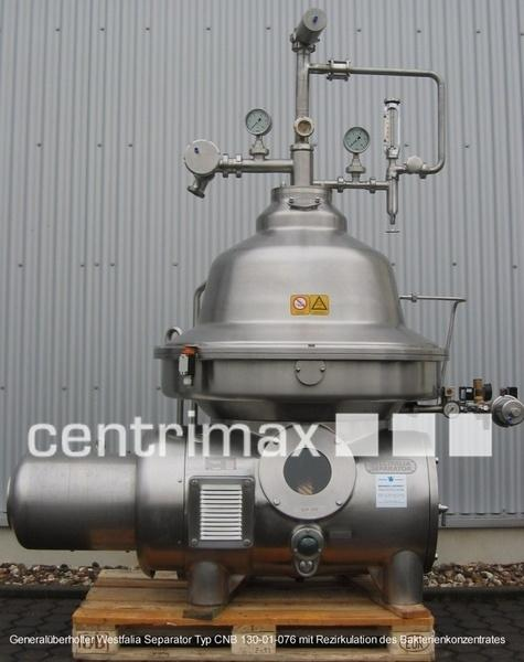 GEA Westfalia Separator Self-cleaning disc centrifuge - CND 130-01-076