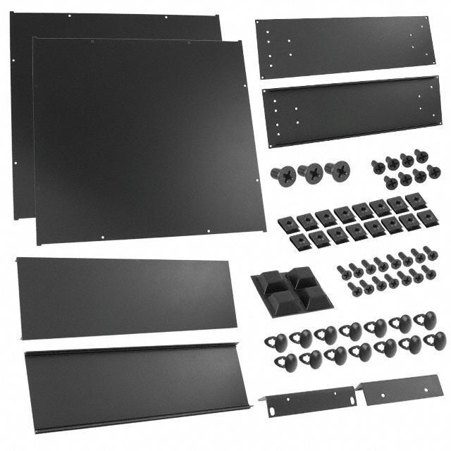 "CHASSIS 18X16.6X5.3"" BLACK - Hammond Manufacturing RM3U1918SBK"