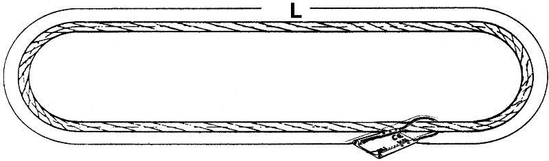 Elingues câbles - Estrope GRELIN - Elingue sans fin