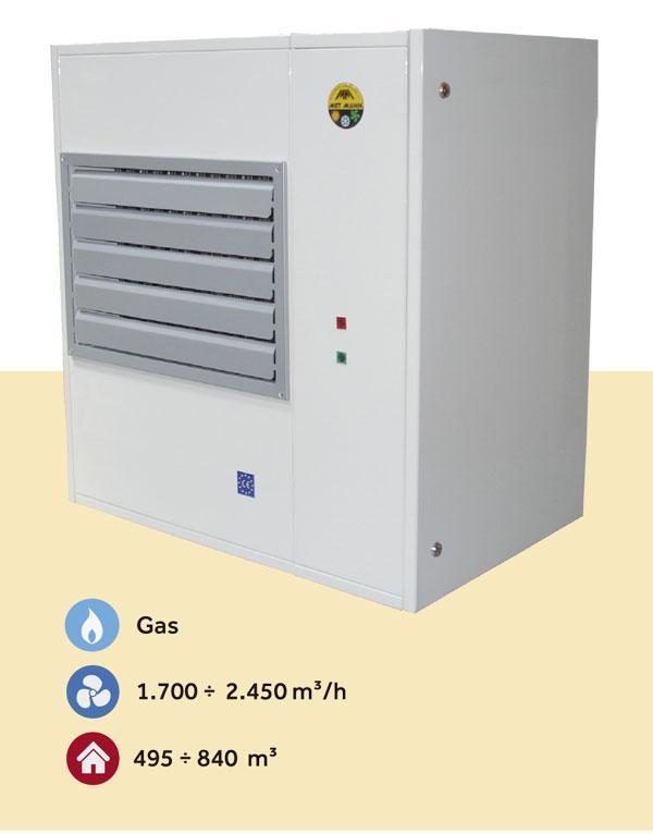 Aerotermos de aire caliente con funcionamiento a gas de 23 a - aerotermo de aire caliente a gas