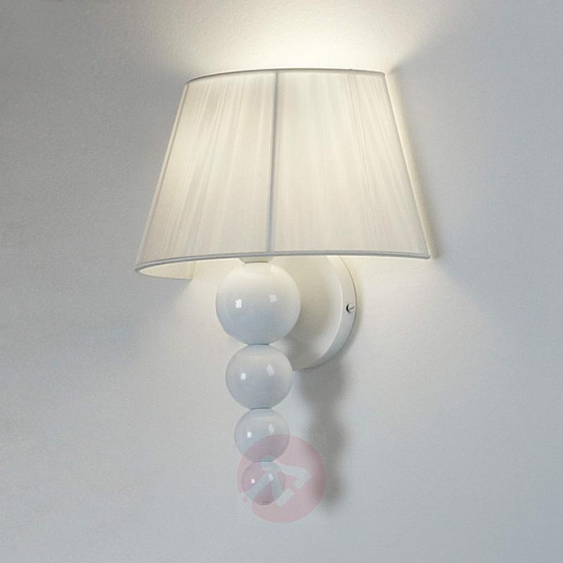 White wall light Mercury with fabric lampshade - design-hotel-lighting
