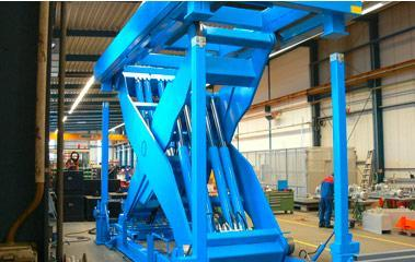 Inline lift platforms - Woodworking industry heavy duty lifting table