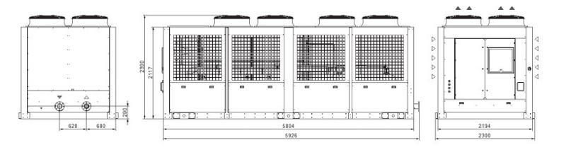 Tcw3e-4a Grandezza 8 Refrigeratori Industriali Per Acqua - LINEA REFRIGERAZIONE