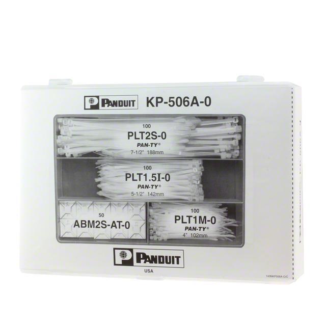 BOX CABLE TIE PLASTIC BLK - Panduit Corp KP-506A-0