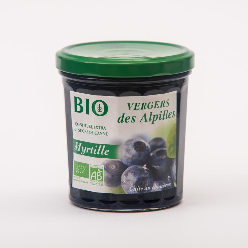 confiture de Myrtille - Vergers BIO Confitures Biologiques au sucre de canne