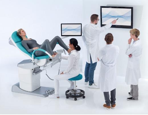 vidan®2 Vidéocolposcope Full HD intégré dans le fauteuil gyn - Le premier vidéocolposcope intégré au monde avec Full-HD et écran de 21.5''