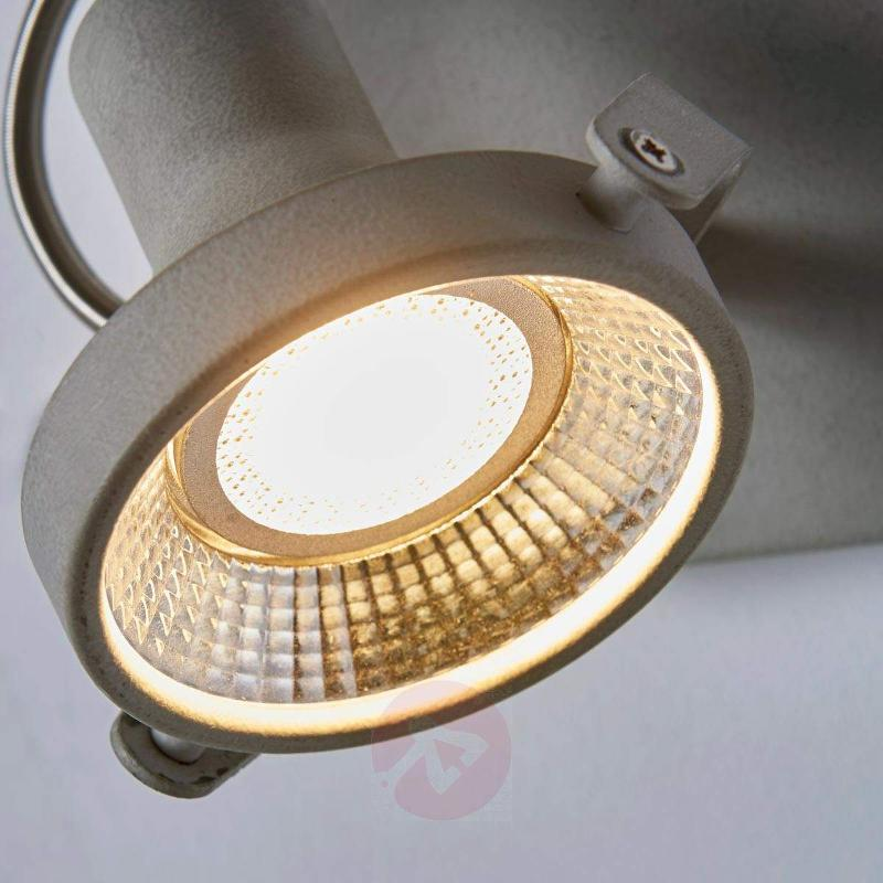 Adjustable LED spotlight Pieter with concrete look - Ceiling Lights