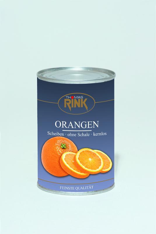 Orangen-Scheiben, 425 ml, leicht gezuckert - null