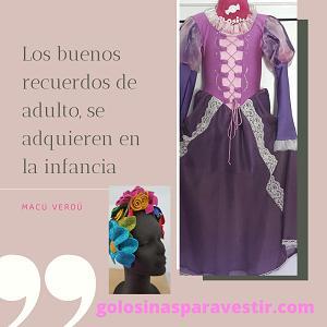 Rapunzel - Vestido disfraz