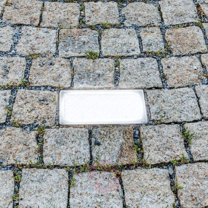 LED recessed floor light, paving stone, 20 cm - Recessed Floor Lights