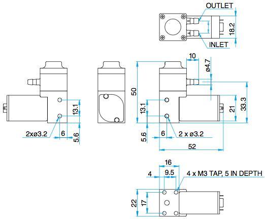 Pompes à diaphragme pour Liquide - DPE-100