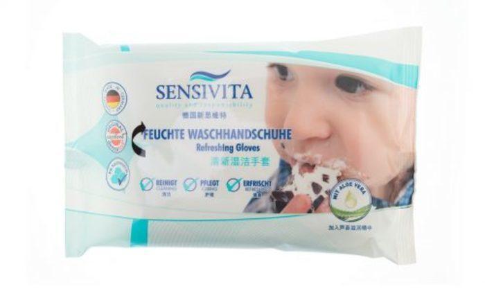 Sensivita Feuchte Waschhandschuhe -