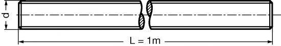 TIGE FILETÉE (LONGUEUR 1 MÈTRE) INOX A4 - DIN 976 (414650)