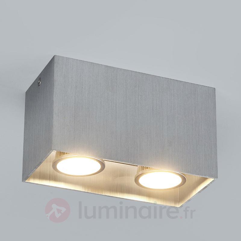 Plafonnier en saillie Carson, gris, à 2 lampes - Tous les plafonniers