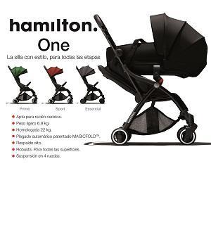 Silla de paseo Hamilton plegado automático  - Silla de paseo que sirve desde el nacimiento