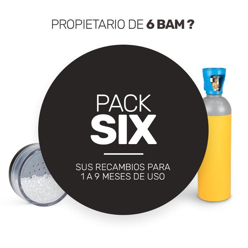 Pack de recharge de consommables pour vos six BAM - Pack Six