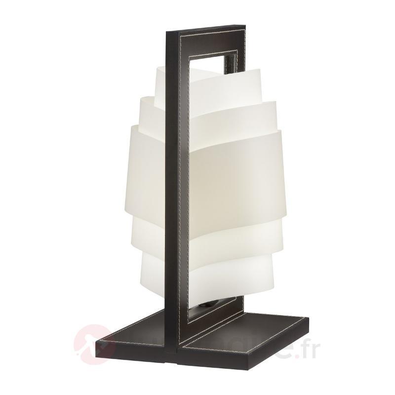 Lampe à poser Vicente brun foncé - Lampes à poser designs