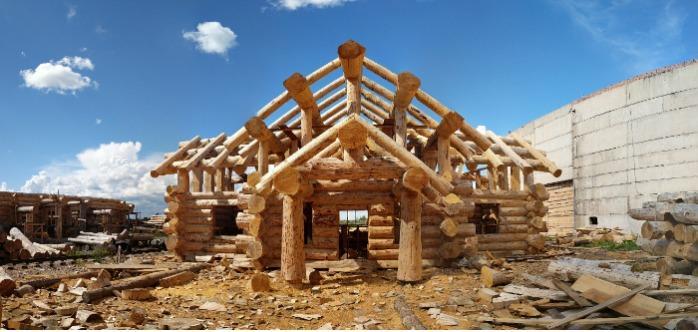 Blockhaus aus Lärche -