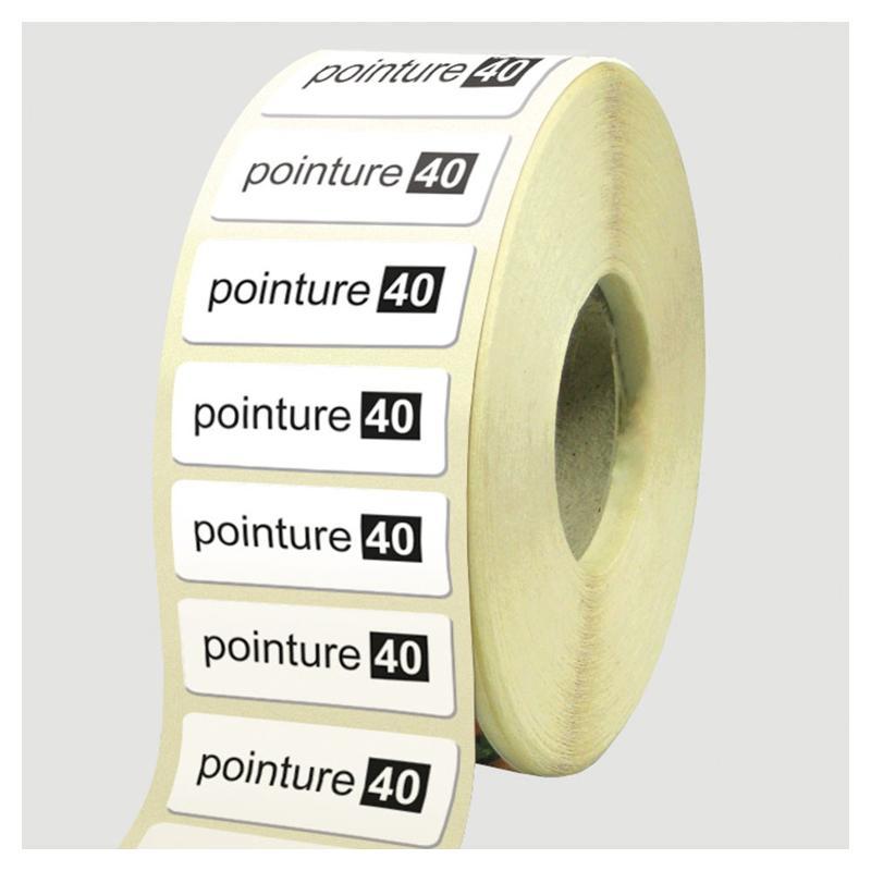 Etiquettes noir et blanc - Etiquettes personnalisées multi-usages et synthétiques