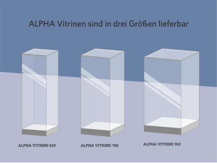 ALPHA VITRINE - the glass showcase - ALPHA VITRINE - The standard showcase with the patented FRANK connection system