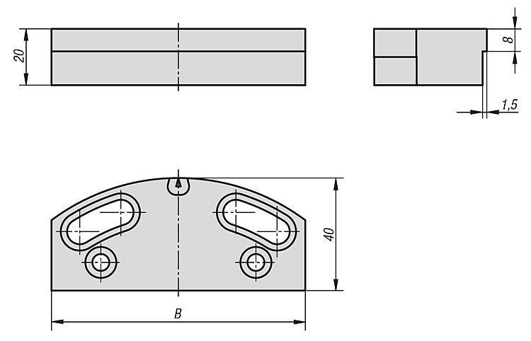 Mâchoire lisse pour mors oscillant - Etau de bridage 5 axes compact