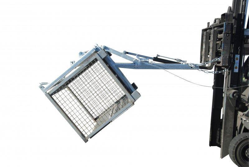 Kippomat type KG - La solution optimale pour le transport, le basculement et le nettoyage des box p