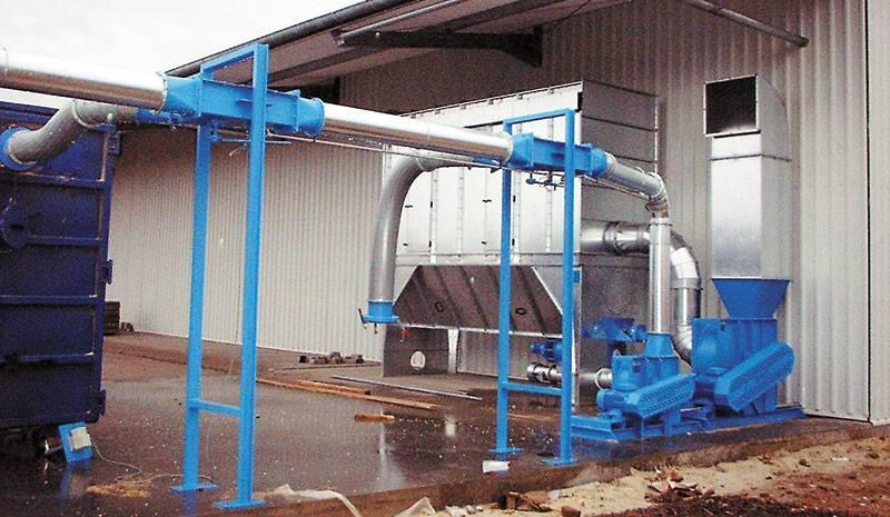 Low-pressure conveyor systems - dedusting
