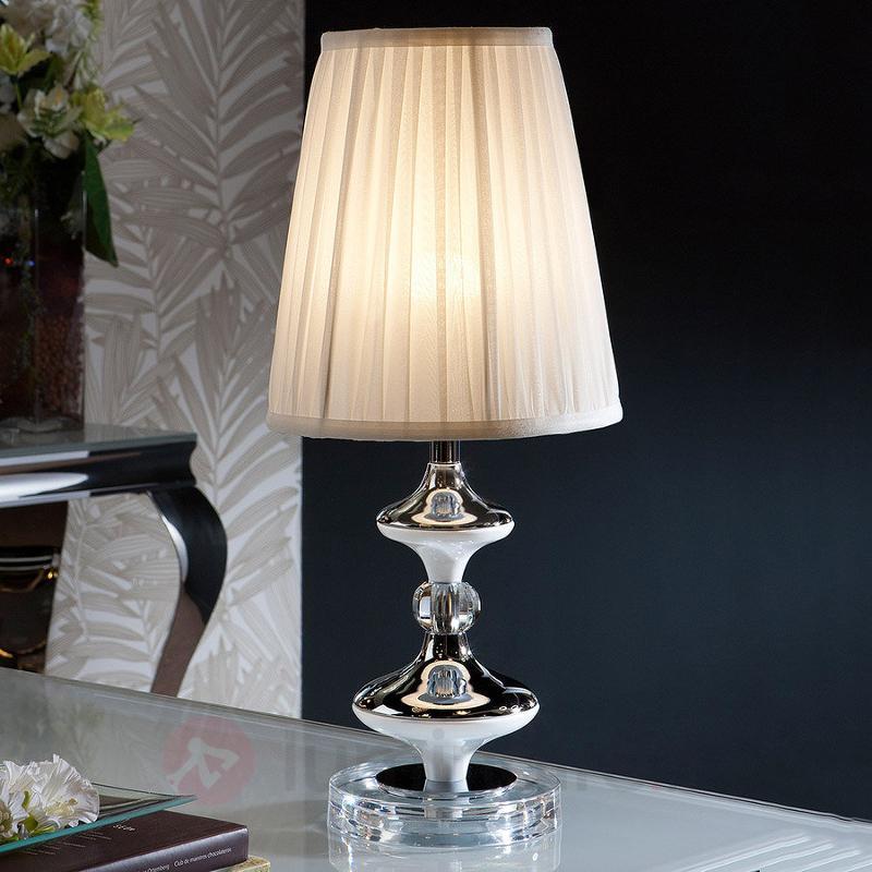 Magnifique lampe à poser textile Oliver - Lampes à poser en tissu