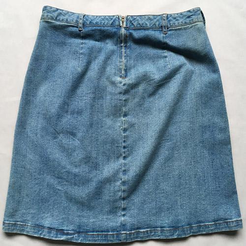 Denim short skirt  Stonewashed blue denim skirt -