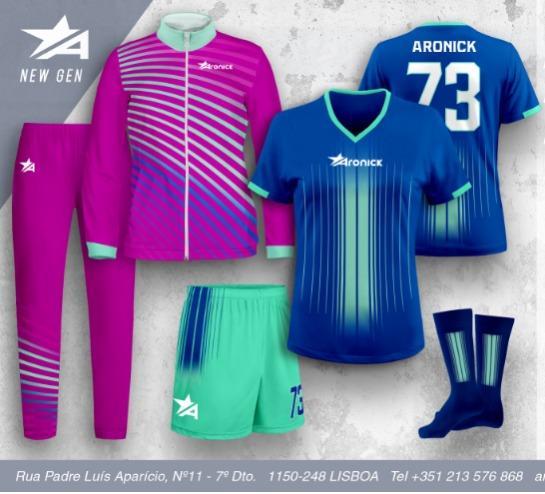 Equipamentos desportivos femininos - Futebol, Voleibol ,andebol