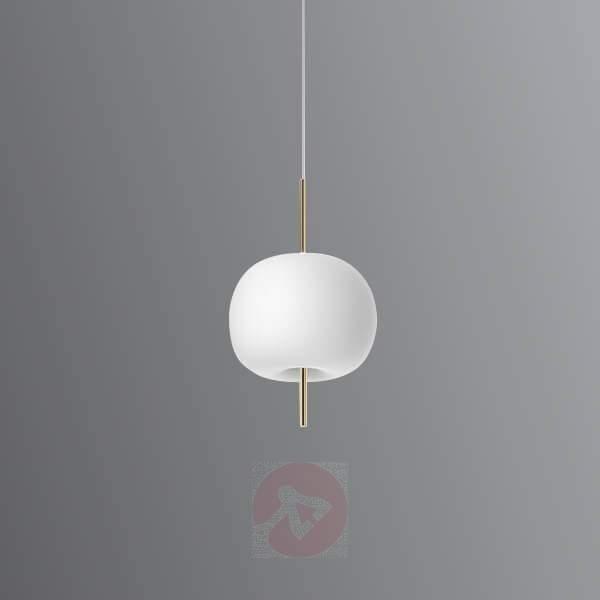 Kushi designer glass LED hanging light - Pendant Lighting