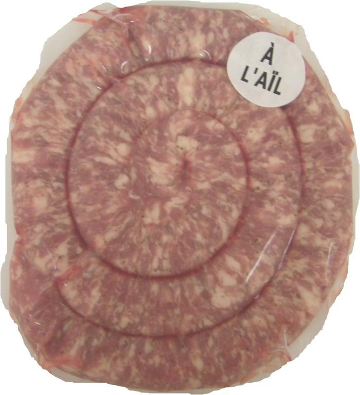 Saucisse à Griller Fine à l'ail - Viande et volailles