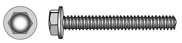 Sechskantschrauben mit Flansch, Vollgewinde - Material A2 | A4