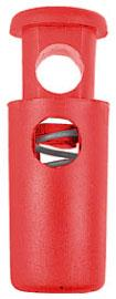 Bloc cordon cylindre (30 mm - Rouge - Plastique) - Fixation / Serrage