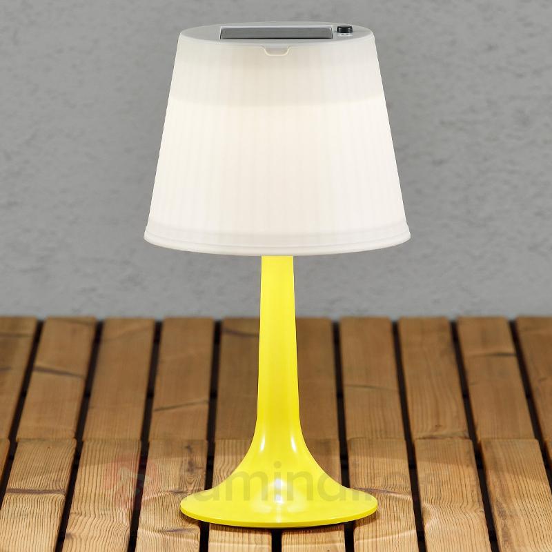 Lampe à poser LED solaire jaune Assisi Sitra - Toutes les lampes solaires